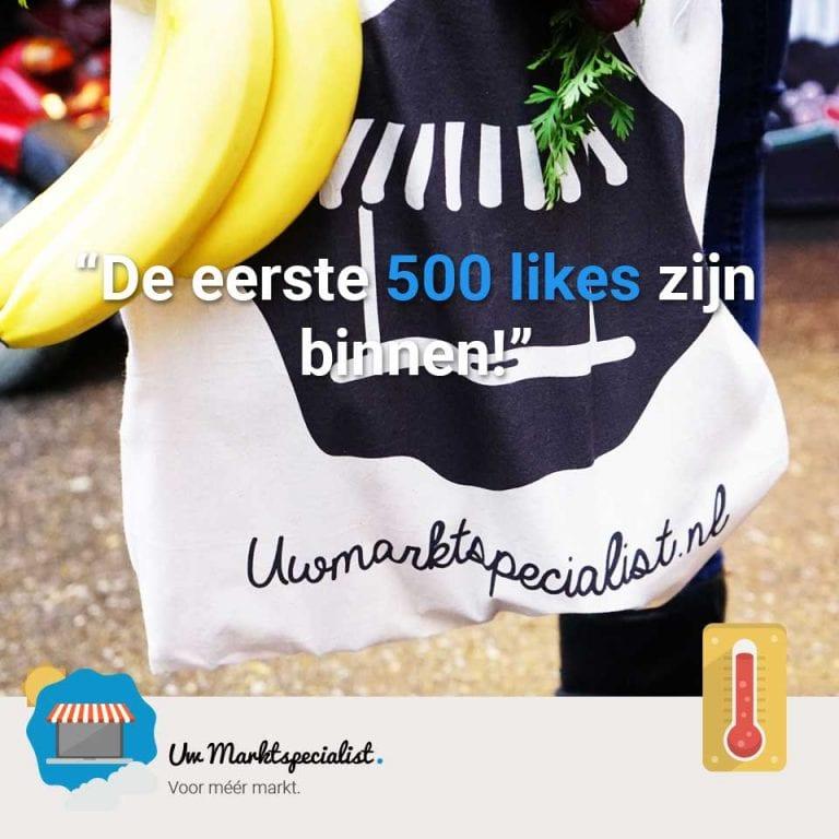 De eerste 500 Facebook likes!