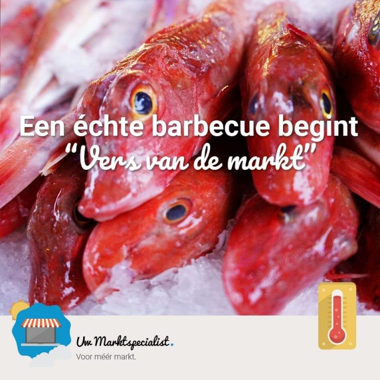 Een echte barbecue begint vers van de markt