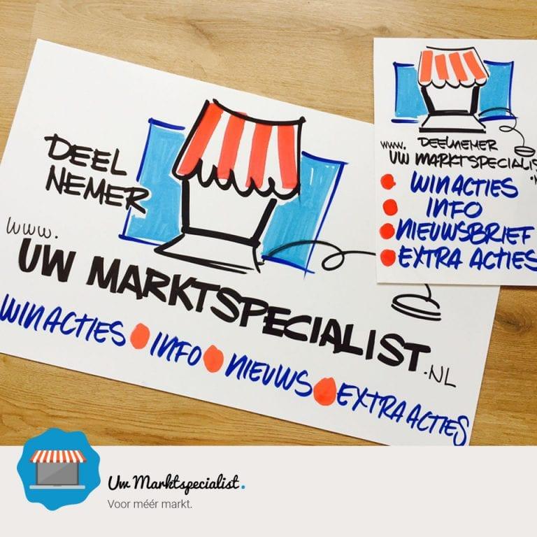 Onze eerste Uw Marktspecialist marktborden zijn gemaakt