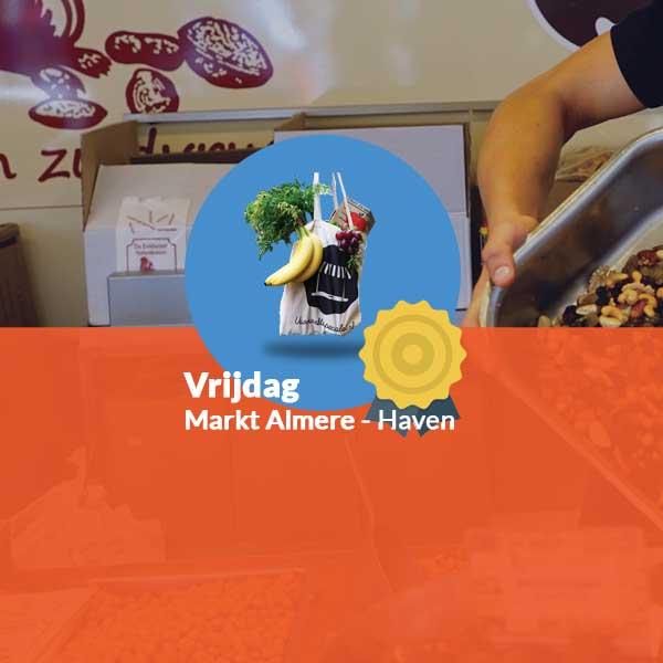 Winnaar boodschappentas vrijdagmarkt Almere Haven