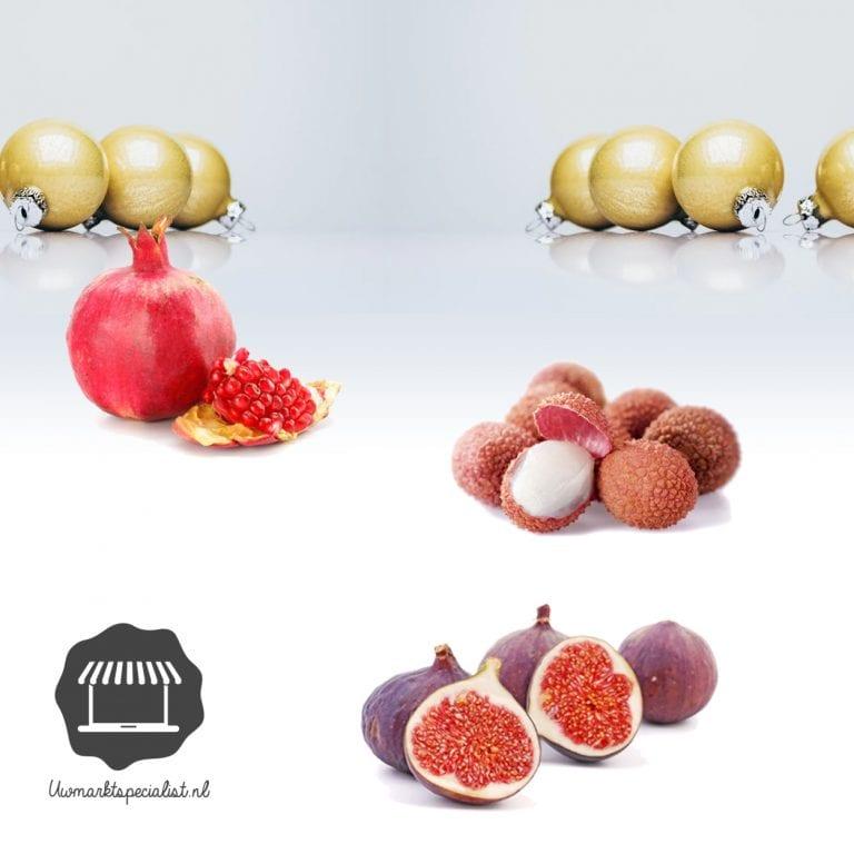 Exotisch kerstfruit van de markt