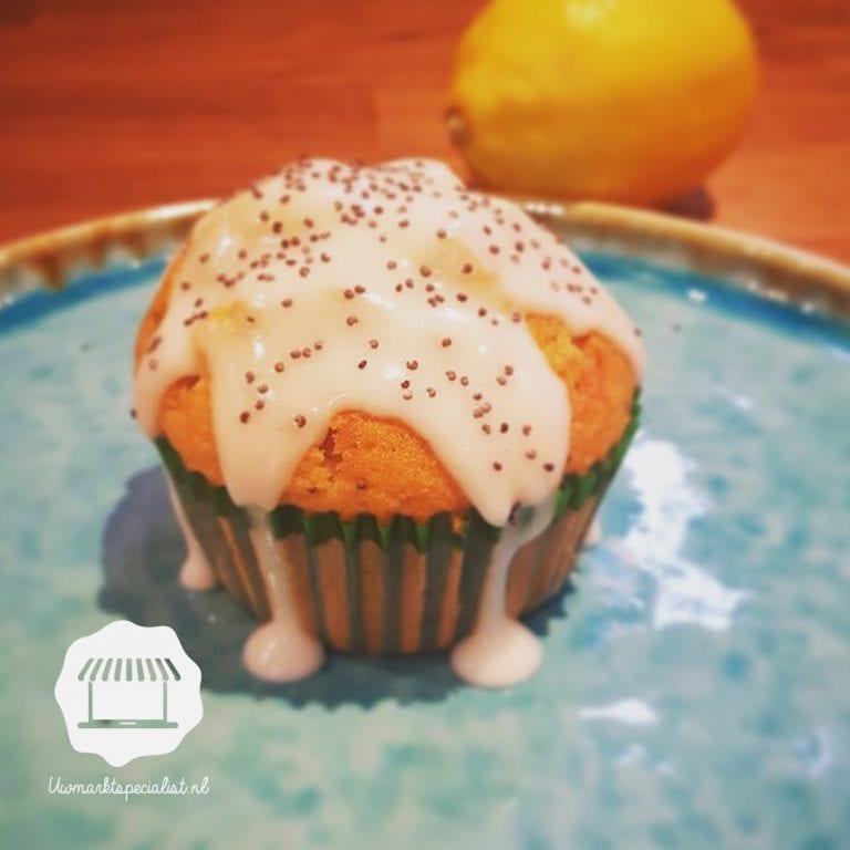 Citroen-maanzaad cupcakes
