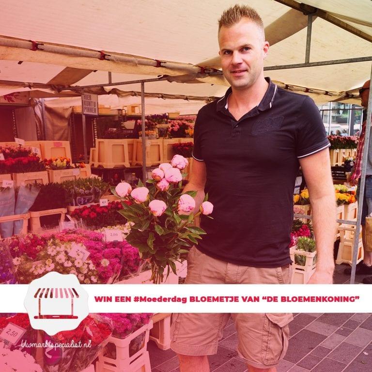 """Verras jouw moeder en WIN een Moederdag bloemetje van """"De Bloemenkoning"""" van de markt Almere"""