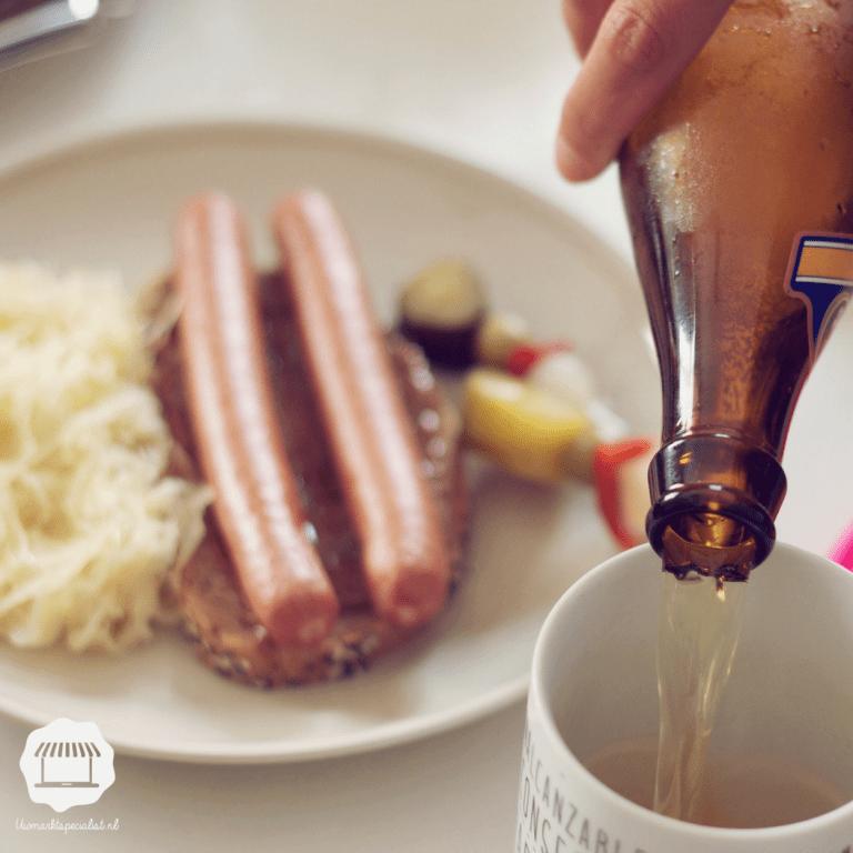 Aardappels, vlees en groenten op z'n Duits