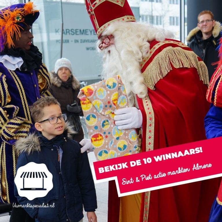 Winnaars Sint & Piet actie markt Almere bekend!