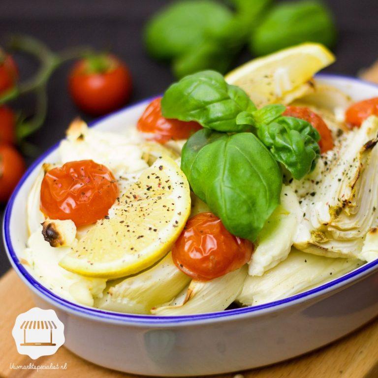 Geroosterde venkel met tomaat en feta