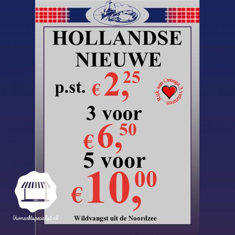 Hollandse Nieuwe op de markt!