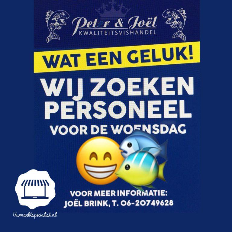 Personeel gezocht markt Almere Stad Woensdag