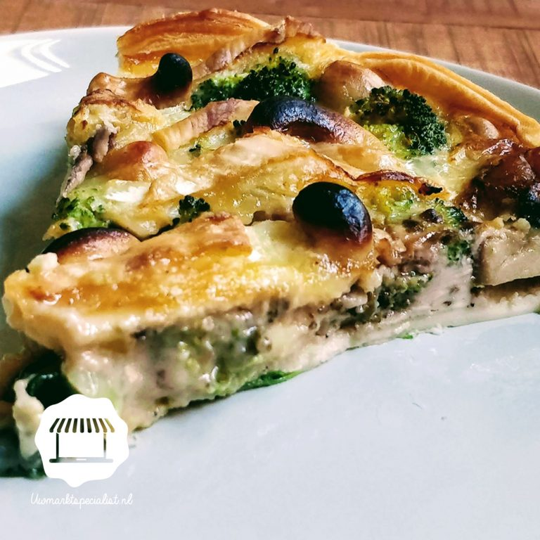 Quiche met broccoli en brie