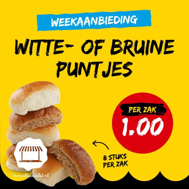 Witte- of bruine puntjes