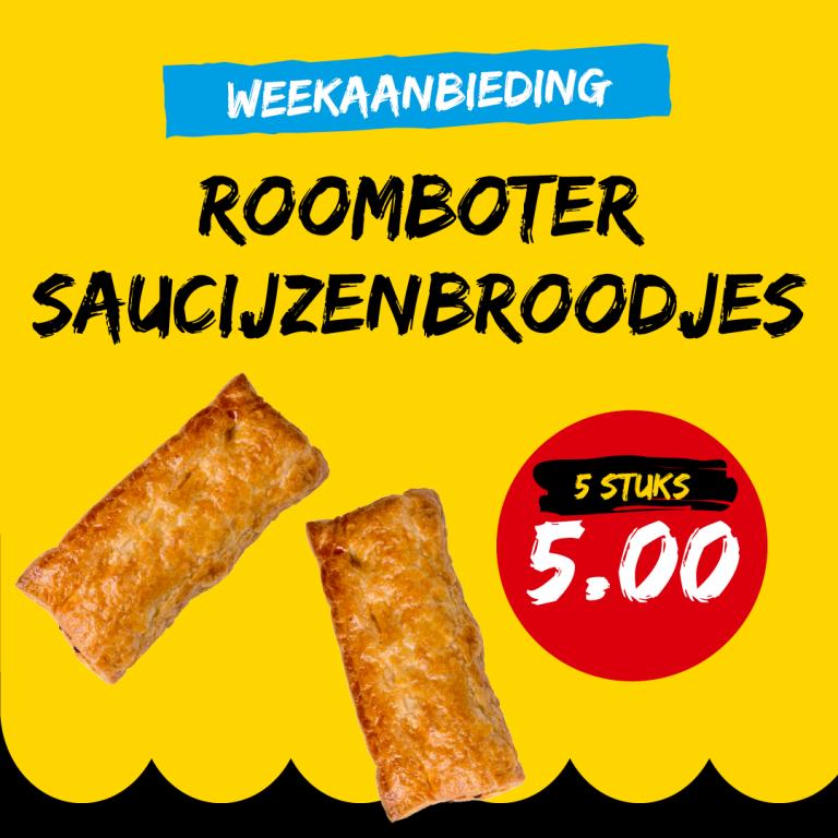 Roomboter Saucijzenbroodjes