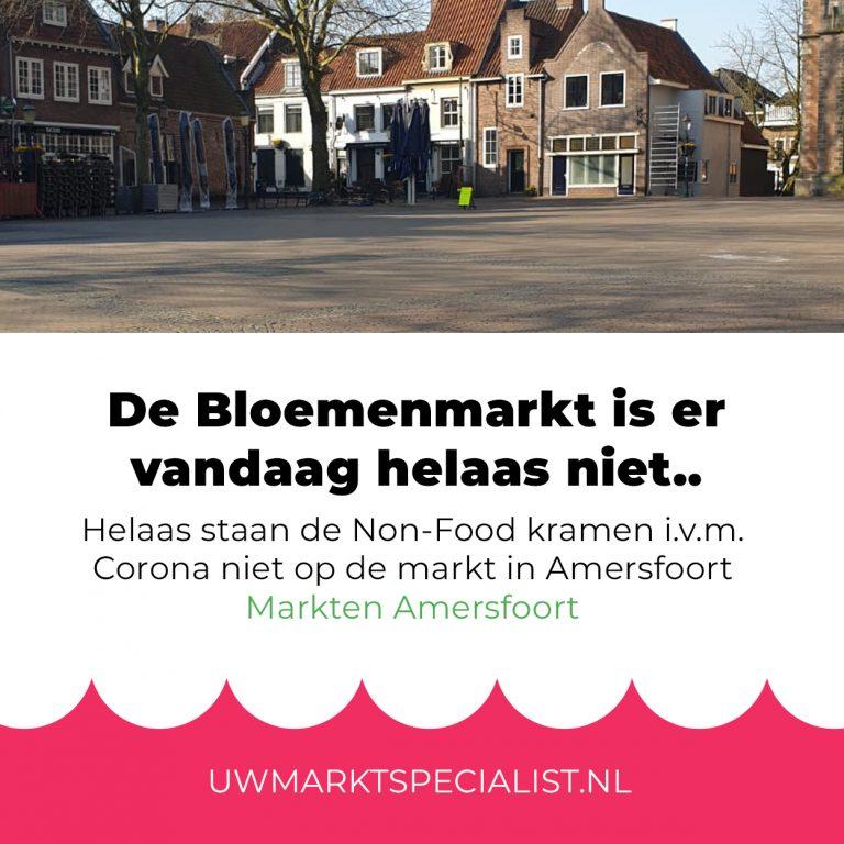 Bloemenmarkt op Lieve Vrouwekerkhof niet aanwezig i.v.m. Corona