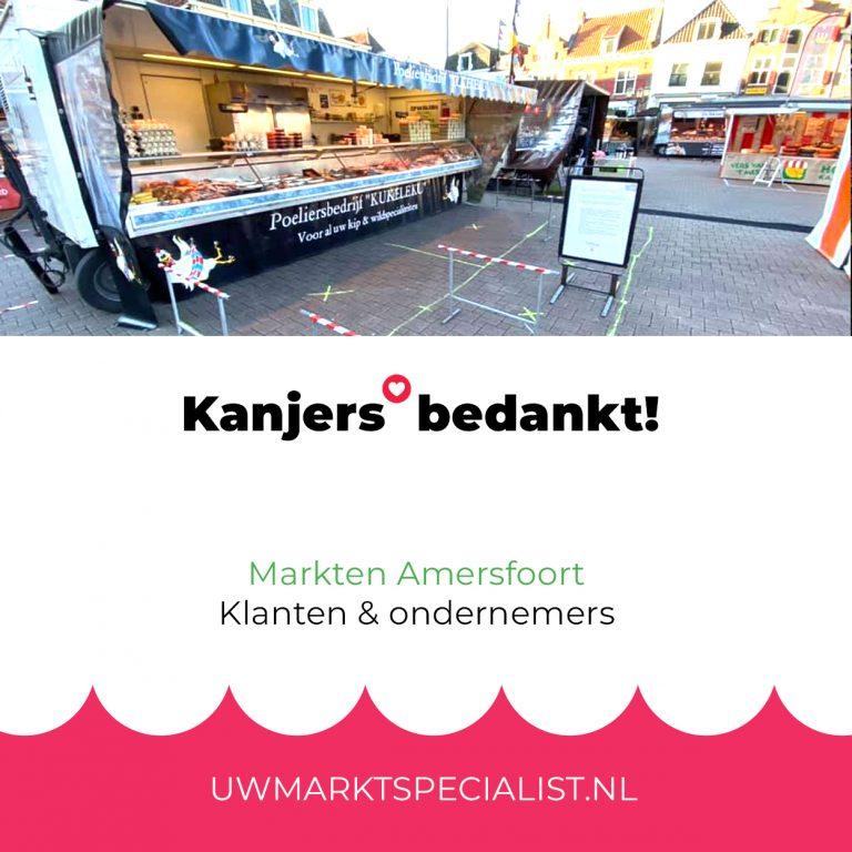 Klanten en ondernemers markt Amersfoort bedankt!