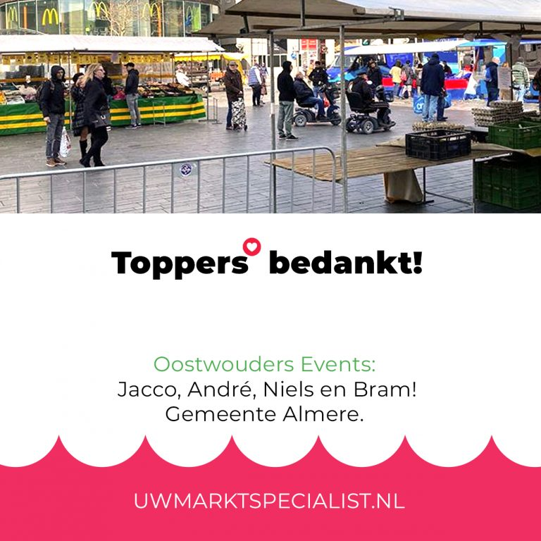 Toppers in Almere bedankt!