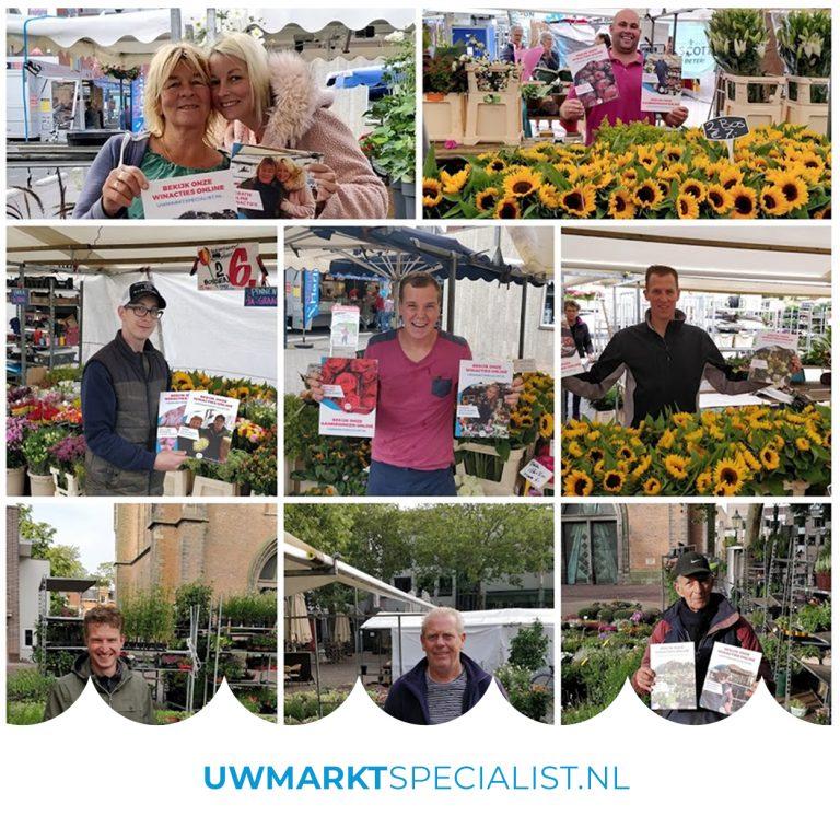 Standplaatsen voor Bloemen en Tuinplanten Amersfoortse markt