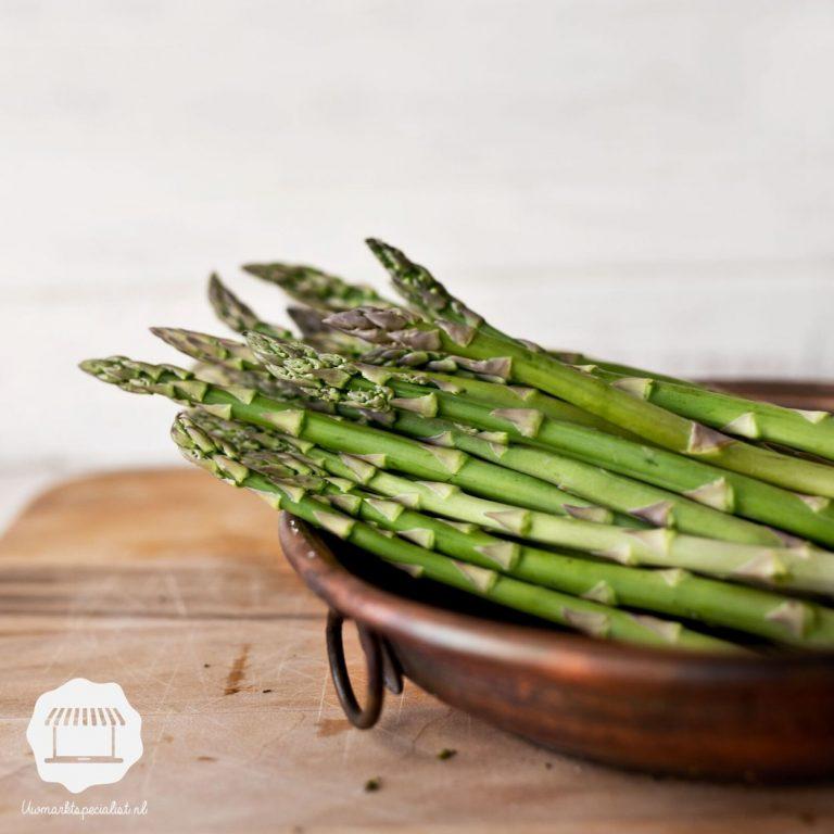 Groene asperges | Geroosterd met Parmezaan