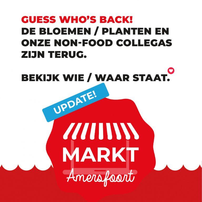 Non-food en Bloemen/Planten terug op de markt in Amersfoort