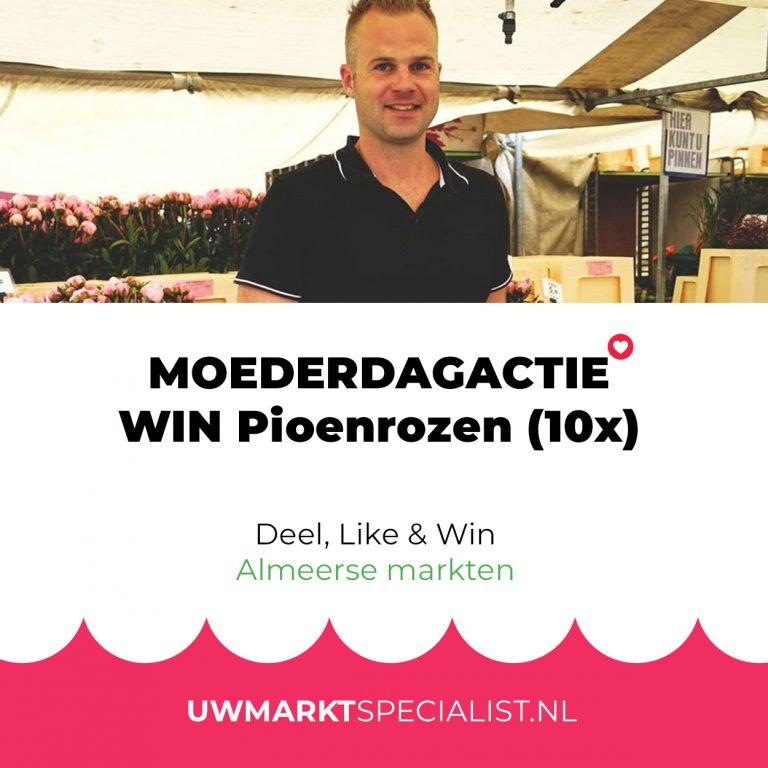 Moederdagactie! Win een bos Pioenrozen (10x) | Markten Almere