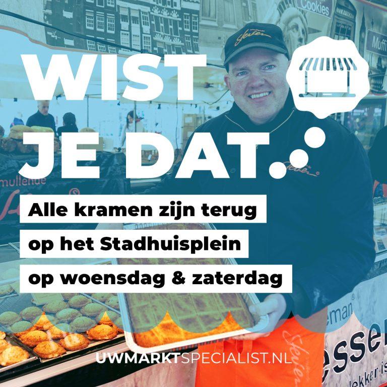 Markt Almere Stad terug op het Stadhuisplein