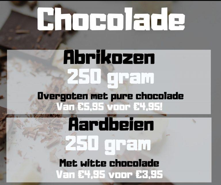 Chocolade aanbiedingen