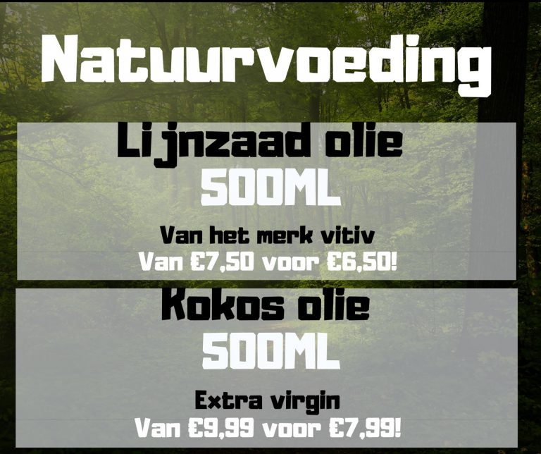 Natuurvoeding aanbieding